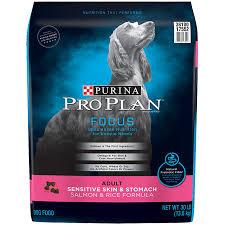 Purina Pro Plan Sensitive Stomach Dry Dog Food Focus Sensitive Skin Stomach Salmon Rice Formula 30 Lb Bag