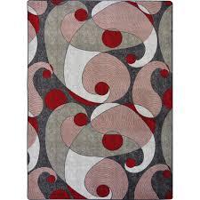 joy carpets kid essentials teen jazzy red gray area rug carpetmart com