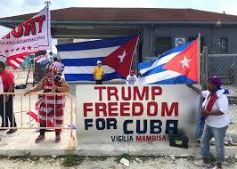 Resultado de imagen para trump en miami sobre cuba