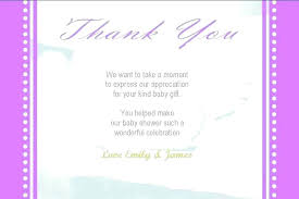 thank you cards baby shower wording notes for gifts appreciation card ideas