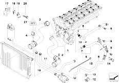 original parts for e39 530i m54 sedan engine cooling system e39 530i m54 sedan engine cooling system water hoses 2