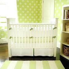 green crib bedding nursery bedding new arrivals inc white pique with green trim crib bedding set