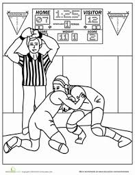 Small Picture Wrestling Worksheet Educationcom