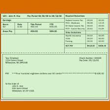 Check Stubs Template Free Impressive Free Download Sample 48 Paycheck Stub Template Top Template Collection