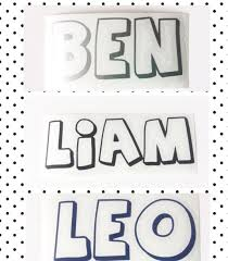 vinyl decal stickers personalised name