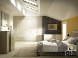 attic bedroom furniture.  furniture contemporary fitted wardrobes in gloss taupe finish textured slate wall  with orange accent colour sloped  fitted bedroomsattic  intended attic bedroom furniture