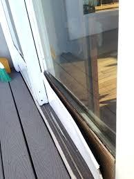 sliding glass door lock replacement track