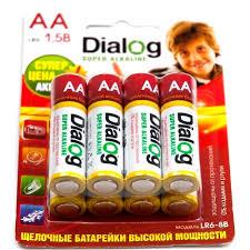 <b>Батарейка AA</b> щелочная <b>Dialog</b> LR6-8B, alkaline, в блистере 8шт ...