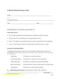 Performance Review Letter Template Best S Employee Self Form Word ...