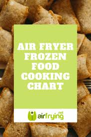Air Fryer Cooking Chart For Frozen Food In Air Fryer Air