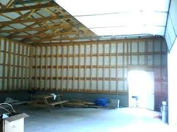 pole barn interior walls wall covering astonishing finishing of building yellow bullet forums kitchen ideas with