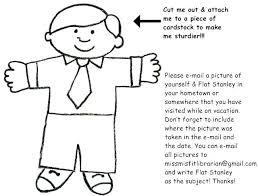 Free Printable Flat Stanley Template Boy And Girl Wakacyjnie Info