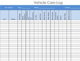 Vehicle Maintenance And Service Log Pdf Template