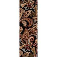 verona black 3 ft x 8 ft runner rug