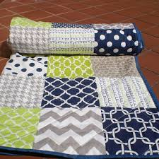 Shop Modern Baby Boy Quilts on Wanelo & Nautical Baby quilt,navy,grey,lime green,Baby boy bedding,baby Adamdwight.com