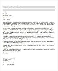 Sample Of Promotion Letter Promotion Offer Letter Template 7 Free Word Format Download