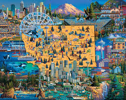 best of seattle on best wall art in seattle with best of seattle jigsaw puzzle puzzlewarehouse