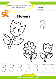 Small Picture Kids Under 7 Number Tracing 1 10 Worksheet Part 1