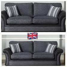 fabric sofas. Perfect Sofas Lisbon Slate With Tringo Black Trim  Natalie Designer Fabric Sofas  For Sofas E