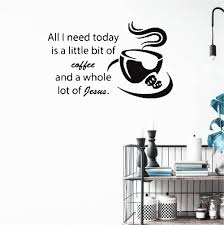Good coffee great friends wall quotes™ decal. Amazon Com Quotes Vinyl Wall Art Decals Love Coffee Jesus Kitchen Cafe Coffee Cup Sticker Dorm Decorec Home Kitchen