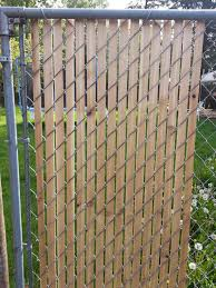 Delighful Chain Link Fence Slats Cedar For With Design Ideas