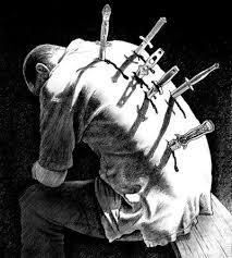 Картинки по запросу человек с ножами в спине