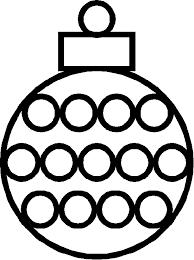 Kerstbal Kleurplaat Google Zoeken Kerst Kerst Knutselen Kerst