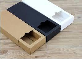 Gift Cardboard Boxes 10pcs Black Sliding Gift Box For Wedding Favor Gift Packaging
