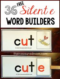 Free Silent e Word Builders - The Measured Mom