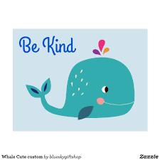 Whale Cute Custom Postcard Postcards Custom Postcards Design