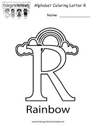 Kindergarten Letter R Coloring Worksheet Printable Great Website