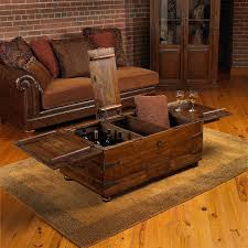 furniture brown rectangle rustic wooden treasure chest coffee table ideas to complete your living room