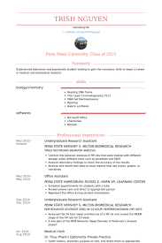 Undergraduate Research Assistant Resume Samples Visualcv Resume