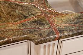 rainforest green granite with a half bullnose edge