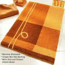 perfect orange bathroom rugs bathroom decor ideas bath rugs shower curtains and accessories