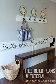 Entryway Bench And Coat Rack Plans Bench Bench Diy Entryway With Shoe Storage Plans And Coat Rack 39