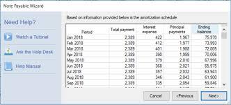Note Amortization Schedules Reporting Planguru Help Desk