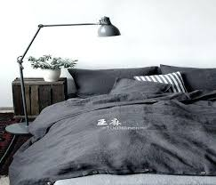 image 0 washed linen duvet cover levtex home queen in light grey set with two vintage washed natural linen quilt