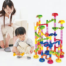 Home Marble Run Set 105 PCS, Construction Building Toys for Kids, 75