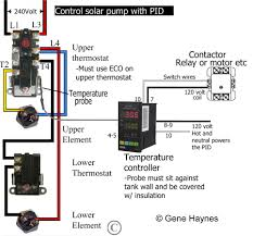 add another thermostat to gas or electric water heater Hot Water Tank Thermostat Wiring add pid to water heater to turn off solar pump before it overheats tank and trips eco reset on upper thermostat this is for a dual purpose tank, electric hot water tank thermostat wiring