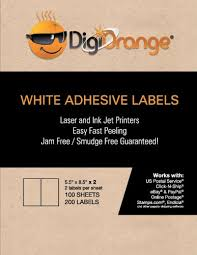 Digiorange 200 Shipping Labels White Blank Half Page Self Import