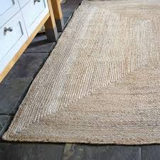 plain braided natural jute rectangle rug