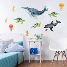 32 elegant fish wall decals scheme of mermaid decals for walls