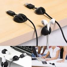 10PCS <b>USB Cable Organizer</b> Wire Winder <b>Earphone</b> Holder Cord ...