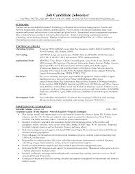 Sample Resume Format telecom engineer resume format Thebeerengineco 95