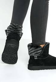 ugg simmens leather boots black women shoes australia suede