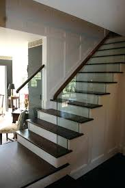 my stair railing design using glass to complement traditional decor stairs without cost