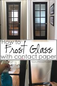 how to frost glass with contact paper looks great and is removable tutorial at
