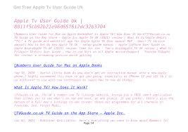 Apple Tv User Guide Uk