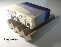 zigzag concrete soap dish by kreteware